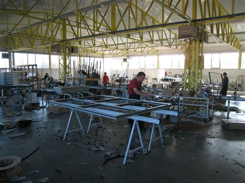 Workshop for production of carpentry