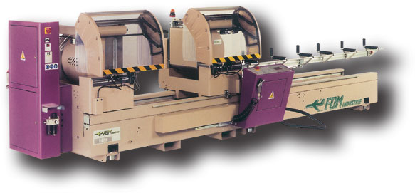 "Our automatic double head saw ""FOM-INDUSTRIE"""