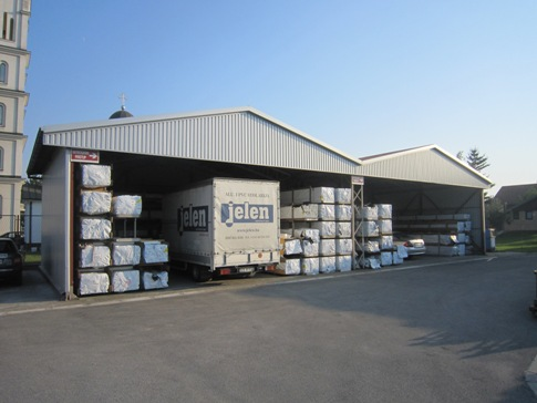Warehouse of PVC Profiles