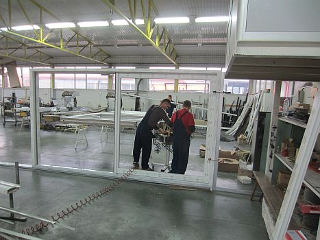 Production of lift-sliding window